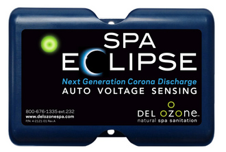SPA ECLIPSES, Next Generation Corona discharge, Advance Plasma Gap Technology, DEL OzOne, Natural Spa Sanitation, new design, improved output